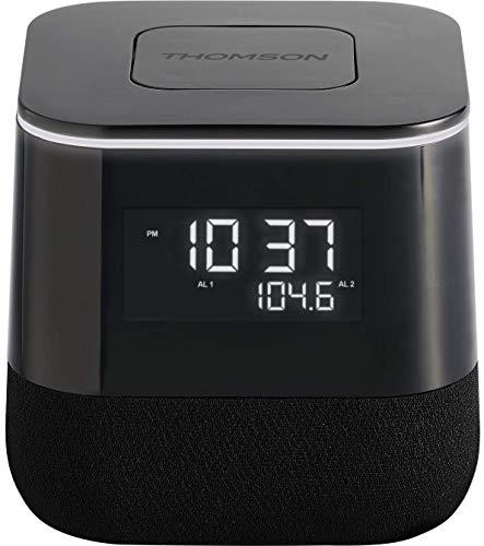 THOMSON - Radio Despertador CR80 con Doble Alarma y luz Ajustable