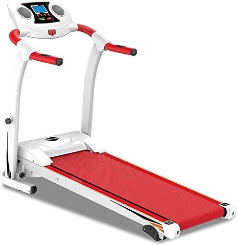 Laufband Intelligent Digital Folding Trainingsmaschine Safety Extended Handlauf 5-Schicht-Sicherheit Skid Spur Tragbare Laufband bis zu 120kg Red Cardio Fitness Jogging Fitness Gym Einsatz in Innenräu