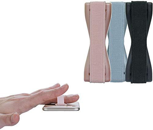 cTRON21 3 X Finger Halterung Handgriff Halter Fingerhalter Smartphone Handy kompatibel mit Samsung Galaxy S9 S8 iPhone X 7 6 6S SE Sony Xperia HTC Grip