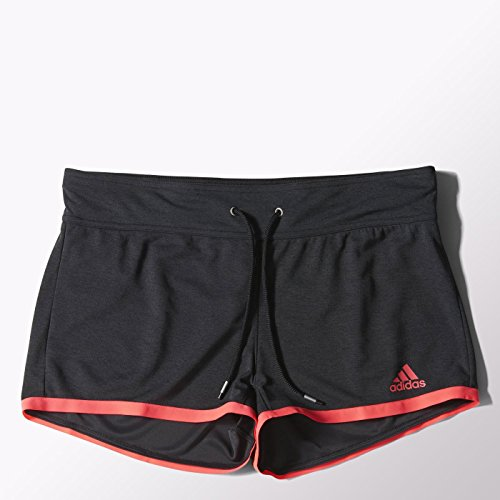 Adidas Dames Clima Chill Shorts - Zwart Melange/Flash Rood, X-Large