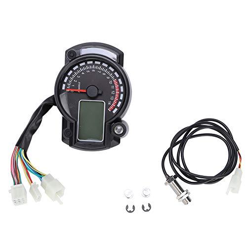 Motocicleta digital colorido LCD velocímetro cuentakilómetros tacómetro con sensor de velocidad universal