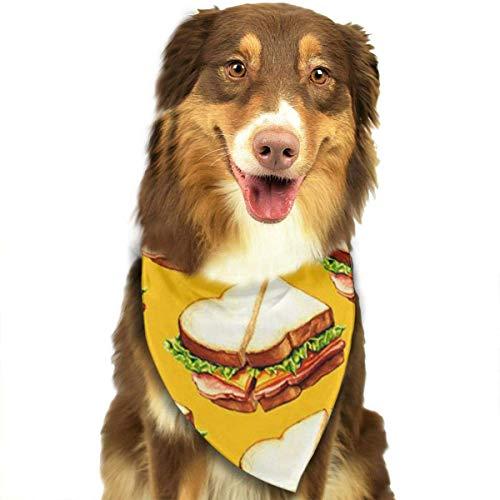 FunnyStar Hond Bandana Heerlijke Sandwich Patroon Sjaals Accessoires Decoratie voor Huisdier Katten en Puppies