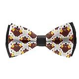 Men's Bow Tie Fashion Cute Funny Thanksgiving Turkey White (6) Pre-Tied Bow Tie,...