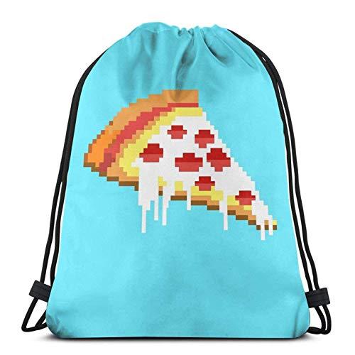 XCNGG Sporttasche Kordeltasche Reisetasche Sporttasche Schultasche Rucksack Drawstring Bag Pizza 8 Bit Floor Pillow...