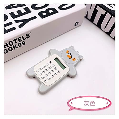Calcolatrice da Tavolo Calcolatrice da tavolo, calcolatrice per ufficio a 8 cifre, calcolatore di cancelleria boutique personalizzato mini colore caramelle Standard Calcolatrice ( Color : Gray )