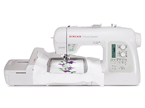 SINGER 4-in-1 Futura Quartet Portable Sewing, Embroidery, Quilting and...