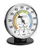 TFA Dostmann Präzisions Thermo-Hygrometer,45.2033 , zur Raumklimakontrolle, analog, mit Komfortzonen, Kontrolle von Temperatur und Luftfeuchtigkeit