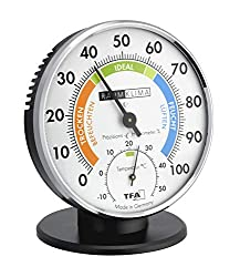 TFA Dostmann precision thermo-hygrometer, 45.2033, for indoor climate control, analogue, with comfort zones, control of temperature and humidity