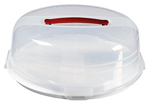 Curver 219974 - Caja de plástico para tartas, (34.7 x 34.7 x 12.5 cm), color blanco