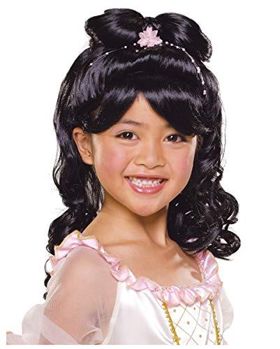 Horror-Shop Les Enfants Perruque Princesse Noire