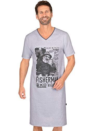 Trigema Herren 637028121 Nachthemd, cool-Grey, XL
