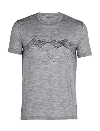 icebreaker Merino Herren Spector T-Shirt, kurzärmelig, Metro Hthr, Größe XL