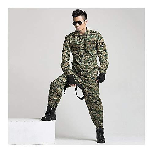 HXSZWJJ Uniforme de Camuflaje Militar táctico del Combate de los Hombres de Las Fuerzas Especiales del Ejército de la Ropa de Entrenamiento Soldado Ropa de Trabajo Ropa del Adulto Pant Set