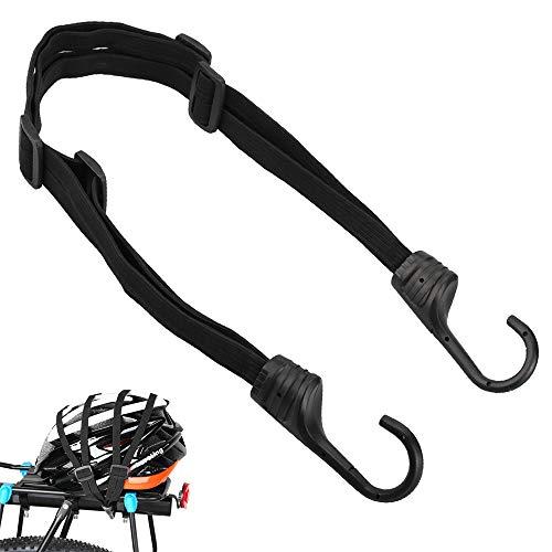 LYTIVAGEN Fahrrad Spanngurt Elastische Gepäckgurt Spannseile mit Haken Verstellbarer Gepäckspanner Gepäckträger Fahrradgurt für Motorradhelm, Fahrradgepäck, Schwarz