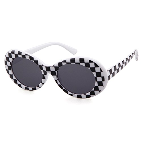 Clout Goggles Retro Vintage Oval Kurt Cobain Inspired Sunglasses Thick Frame Round Lens Glasses