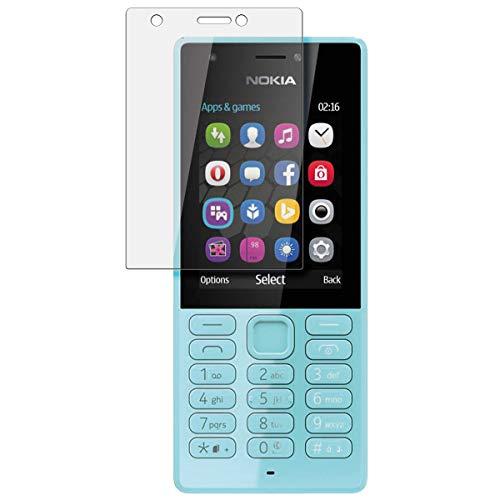 disGuard Schutzfolie für Microsoft Nokia 216 Dual SIM [2 Stück] Kristall-Klar, Bildschirmschutzfolie, Glasfolie, Panzerglas-Folie, Bildschirmschutz, extrem Kratzfest, Schutz vor Kratzer, transparent