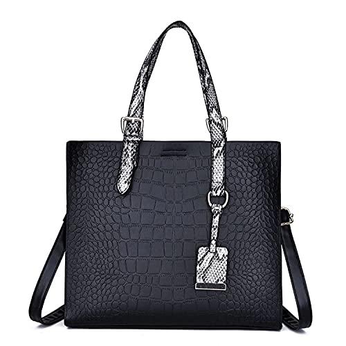 YXLYLL Bolso de cuero de la PU bolso de las señoras de la manera un hombro Diagonal Wrap patrón madre corta distancia bolso femenino A