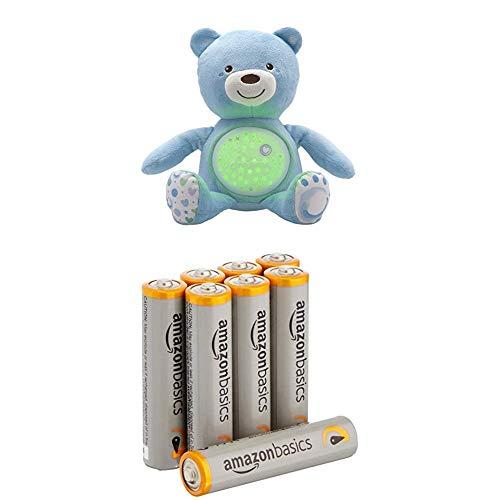 Chicco 00008015200000 - Baby Bär, hellblau mit AmazonBasics Batterien