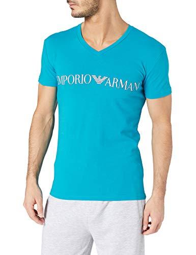 Emporio Armani Underwear T-Shirt Megalogo, Ocean, S Uomo