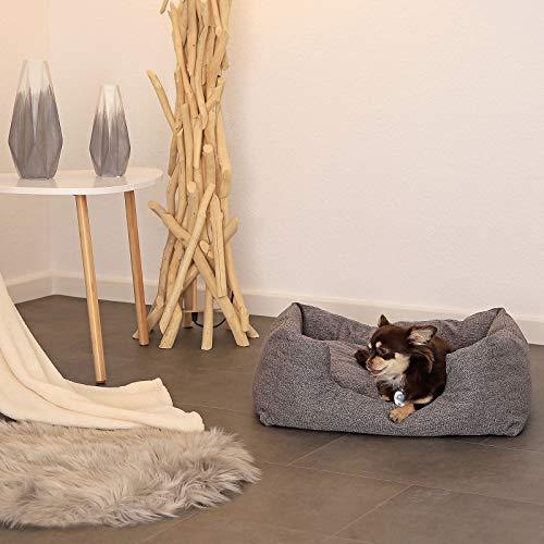 dibea DB00750, Hundebett mit wendbarem Hundekissen, 60 x 50 cm, grau (Farben/Größe wählbar) - 3