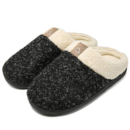 Aimony Womens Slippers Memory Foam Comfort Fuzzy Plush Lining Slip On House Shoes Indoor Outdoor...