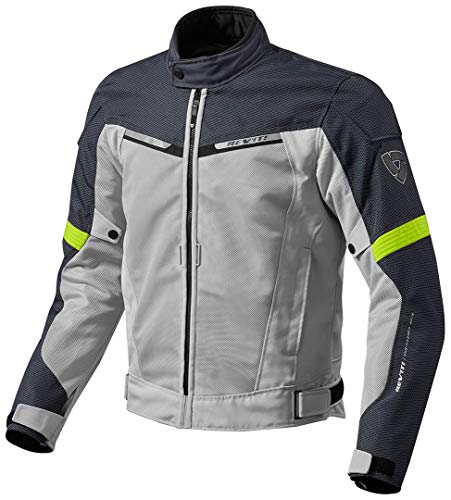 FJT201 - 4120-S - Rev It Airwave 2 Motorcycle Jacket S Silver Neon Yellow