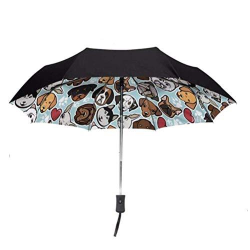 ZHANGYY Schnelltrocknender Reise-Regenschirm Faltbarer Reise-Regenschirm Doppel-Sonnenschutz-UV-Schutz Regensicherer kompakter Sonnenschirm Kompakter, verstärkter winddichter Rahmen