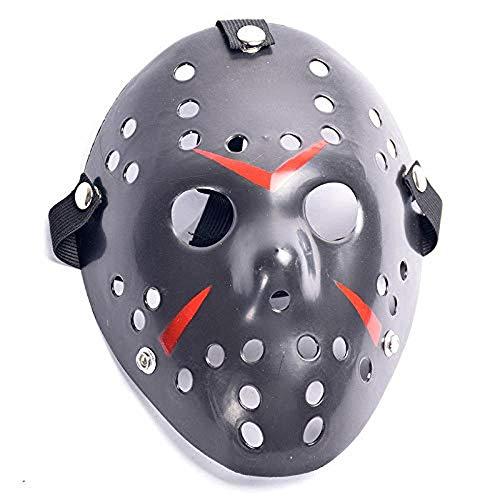 Lavquz Mscara de Halloween Mscara de Halloween de Varios Estilos Disfraz de rol de Hockey Mscara de Asesino de Halloween Mscara Facial Mscara Blanca