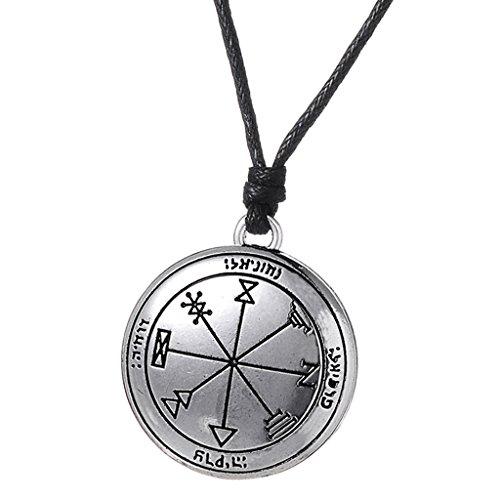 SDENSHI Collar con Colgante de Runas Vikingas Retro, Cordón de Nailon, Amuleto de Buena Suerte, Joyería de Oración