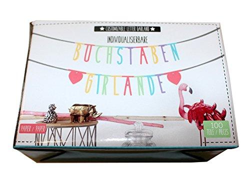 Close Up z890420Letra Guirnalda Color DIY Banner, individualisierbar, Multicolor