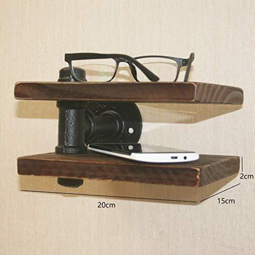 Wandbeugel muurstructuur ontwerp houder plank naam Woodwooden materiaal zweet Scandinaviaans materiaal houten plank frame telefoon klok bloem kleine voorwerpen huishouden Shelfsturdy ketel decoratie