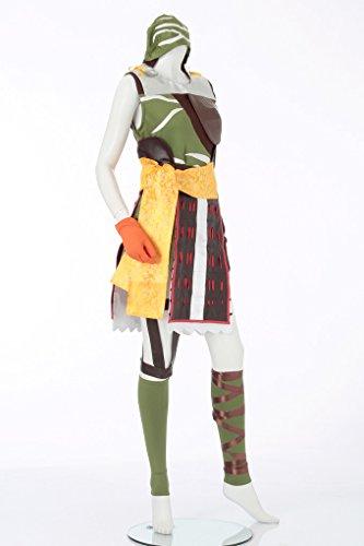 『戦国 basara バサラ まつ風 コスプレ衣装 レディース11号(5L)』の4枚目の画像