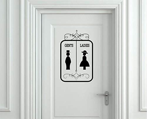 Signo De Puerta De Acrílico 12cm placa Adhesivo Baño//Cuarto De Baño//Hotel//Decoración De Oficina
