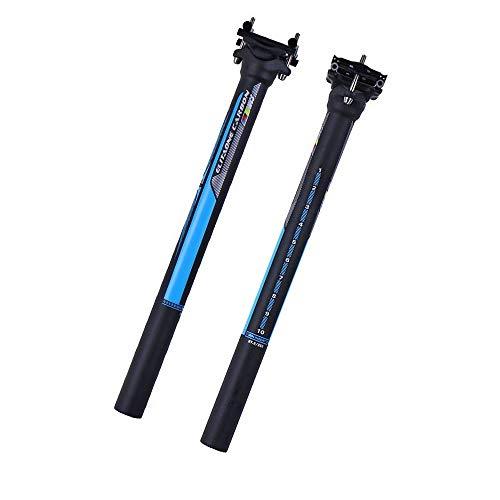 QIKU Carbon MTB/Rennrad Sattelstütze versetzt Sattelstütze 27.2/31.6-350/400MM (31.6 * 350mm, Offset 0°)