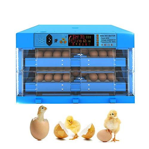 JHKGY Incubadora De Huevos,Incubadora Multifunción Portátil,Incubadora De Huevos De Gallina Doméstica Inteligente Automática,para Cría De Granjas para Incubar Pollo Pato Paloma Codorniz,128 Egg
