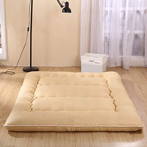 Colchoneta plegable y gruesa, grande, portátil, varios tamaños, para cama queen-king, lavable, para futón, 180 x 200 cm