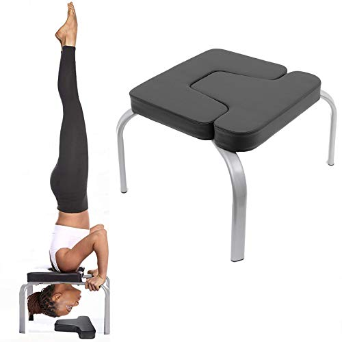 Yoga Headstand Bench- Stand Yoga Chair for Family, Gym -PU Pads - Relieve Fatigue for Practice Head Stand, Shoulderstand, Handstandand Build Up Body