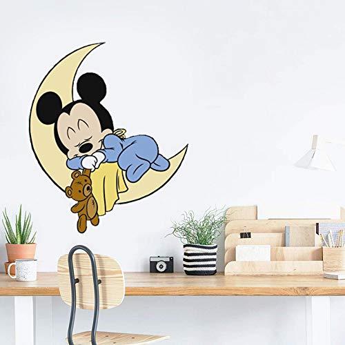 Sticker mural en vinyle Mickey Mouse et Minnie Mouse pour chambre d'enfant