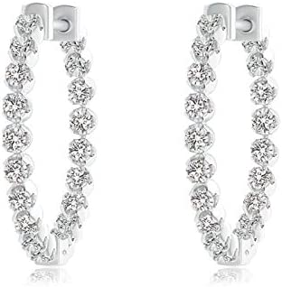 Floating OFFicial site Diamond Inside-Out Hoop 1.8mm Earrings discount