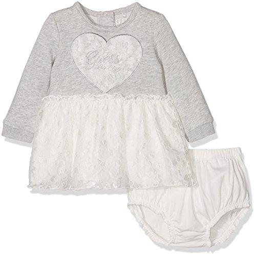 Guess LS Vestido, Gris (Light Heather Grey), Neonato (Talla del Fabricante: 24M) para Bebés