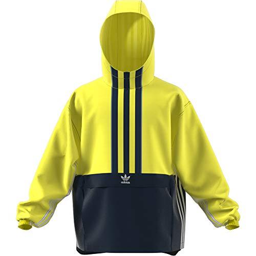 adidas Herren Auth Anorak Jacke XL Shock Yellow/Collegiate Navy