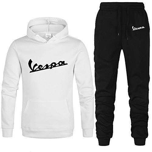 Vespa Herren Pullover Unisex Pullover Freizeit Sport Sweater Mit Kapuze Sweatshirtjacke Jogginghose Set E-M