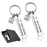 New Home New Adventures keychains New House Keychain New Home Keychain House Keyrings Housewarming Gift New Home Owners Jewelry from Real Estate Agent (New Adventures(2 Packs))