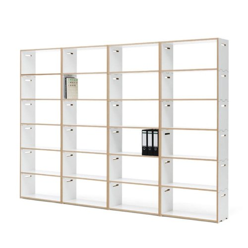 Tojo Hochstapler Regal, weiß 24 Elemente 304x32x225 cm