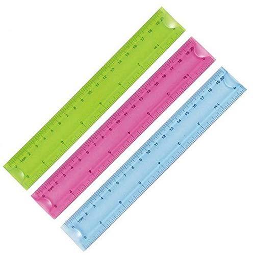 Carry stone 20 cm Lineal 3 Farben Ideal für Schüler, um 3 Teile/Kit zu verwenden. Langlebig und praktisch