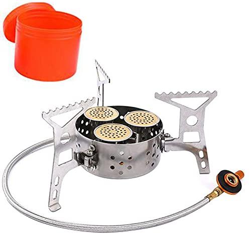Mini prueba de viento de la estufa que acampa plegable portátil a prueba de viento 9000W con mochila de picnic al aire libre cocina de la hornilla