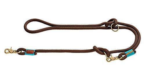 HUNTER OSS Verstellbare Führleine, Seil, Messing-Karabiner, maritim, 1, 0 x 200 cm, braun