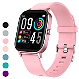 Gushull Fitness Tracker Watch Heart Rate Monitor, Smart Watch with Blood Pressure Activity Tracker Watch with Calorie Counter, Pedometer Watch for Women Men and Gift (Shallow Coral)