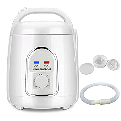 4YANG 1.5-1.8 Liters Sauna Steamer Portable Pot, 110V Fumigation Machine Liters Suit Home SPA Shower Salon for Body Relaxation, Face Beautifying (US Plug)
