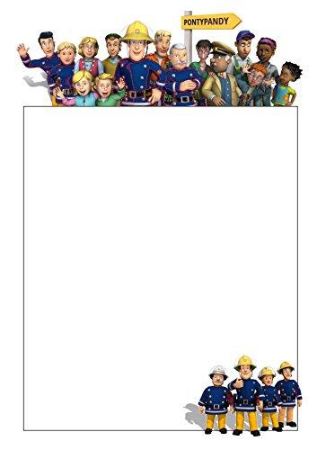 25 A5 Pompier et motif Family/d'écriture sur le thème des petits Établissements papier – Uni papeterie